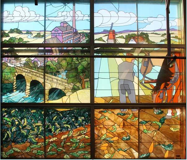 Glasmålning på Örtofta sockerbruk